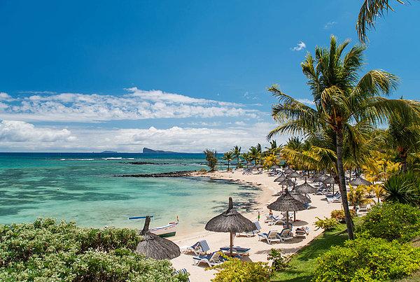 Tropical Beach II. Mauritius Print by Jenny Rainbow