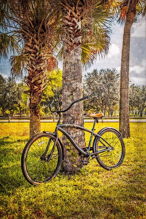 Tropical Bicycle Print by Debra and Dave Vanderlaan