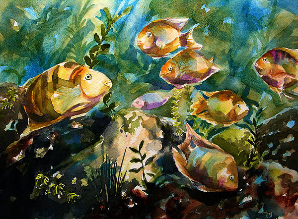 Tropical Fish 3 Print by Julianne Felton