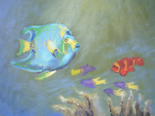 Tropical Fish Print by Patricia Kimsey Bollinger