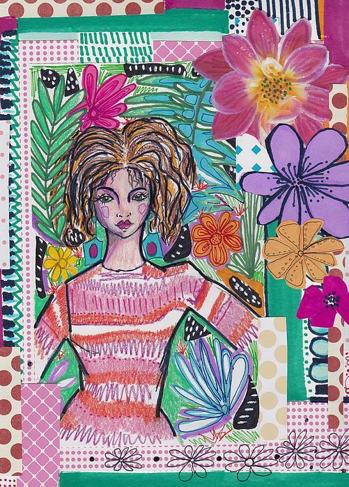 Rosalina Bojadschijew - Tropical Flower Collage