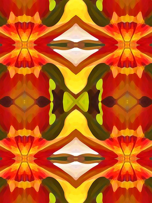 Tropical Leaf Pattern  11 Print by Amy Vangsgard