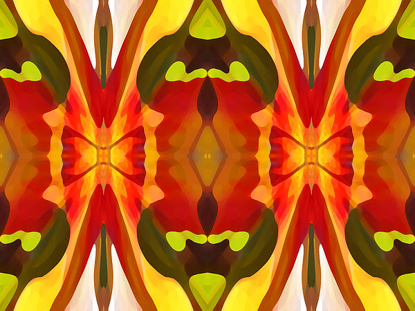 Tropical Leaf Pattern 13 Print by Amy Vangsgard