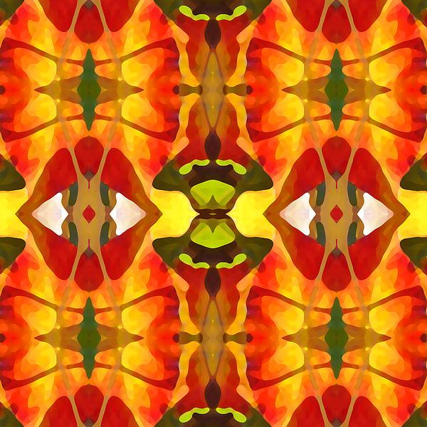 Tropical Leaf Pattern 4 Print by Amy Vangsgard