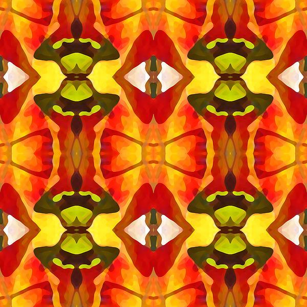 Tropical Leaf Pattern 7 Print by Amy Vangsgard