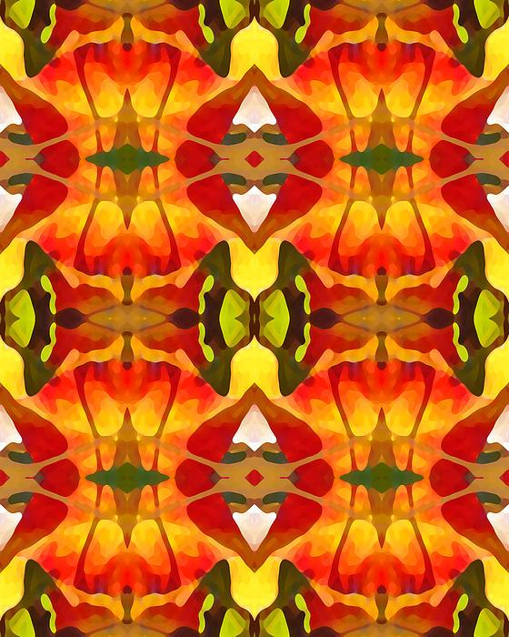 Tropical Leaf Pattern 8 Print by Amy Vangsgard