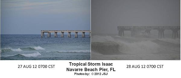 Tropical Storm Isaac Difference In A Day Print by Jeff at JSJ Photography