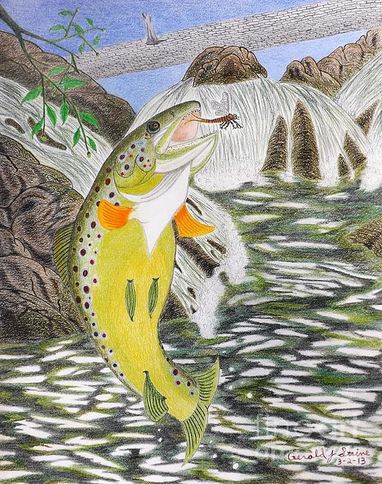 Trout Stream In May Print by Gerald Strine