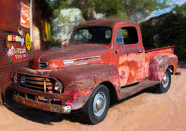 Truck And Hubcaps Print by Ron Regalado