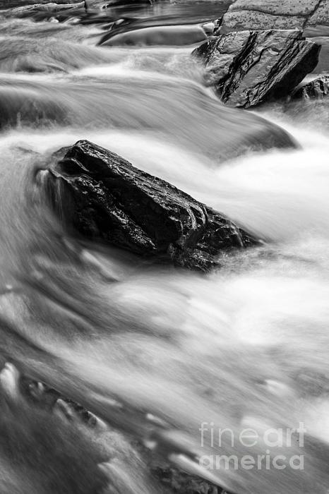 True's Brook Gorge Water Fall Print by Edward Fielding