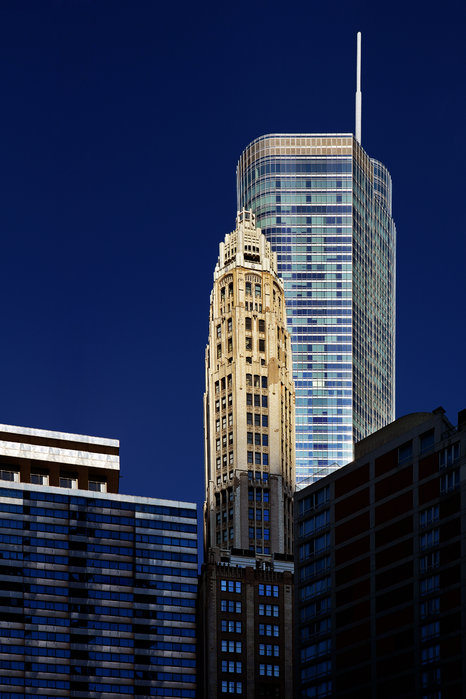 Trump International Hotel And Tower Chicago Print by Christine Till