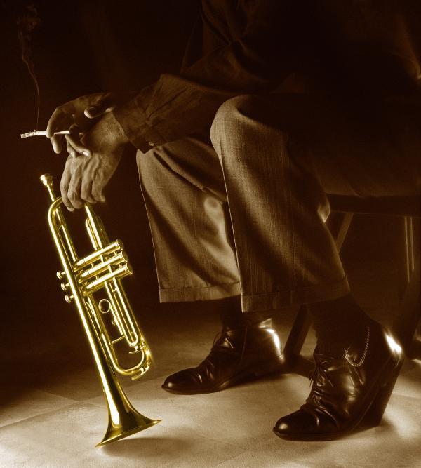 Trumpet 2 Print by Tony Cordoza