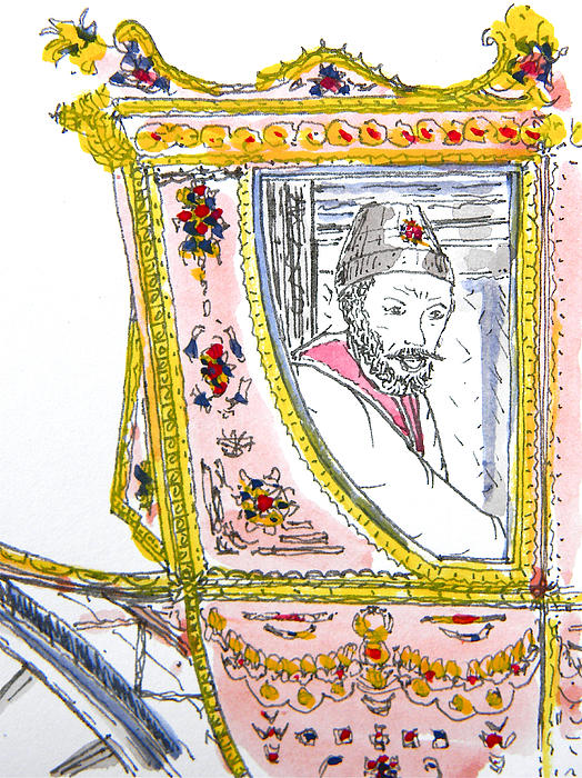 Tsar In Carriage Print by Marwan George Khoury