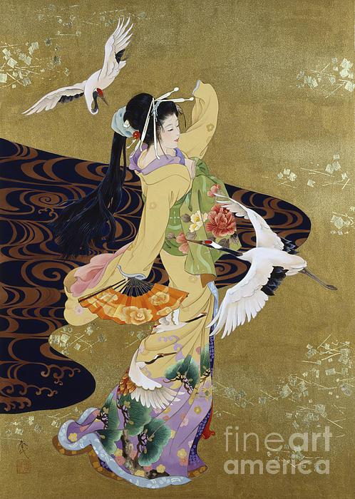 Tsuru No Mai Print by Haruyo Morita