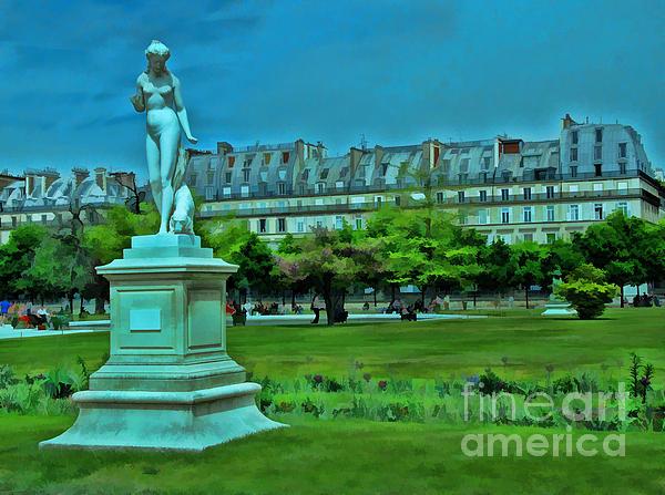 Tuileries Gardens Print by Allen Beatty