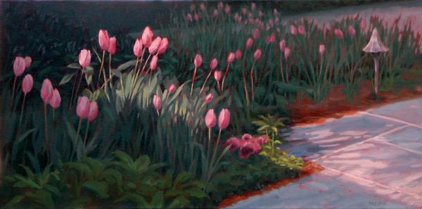 Tulips Dancing Print by Sonia Kane