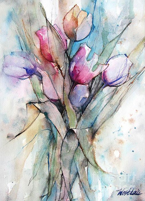 Wendy Westlake - Tulips Pink and Purple