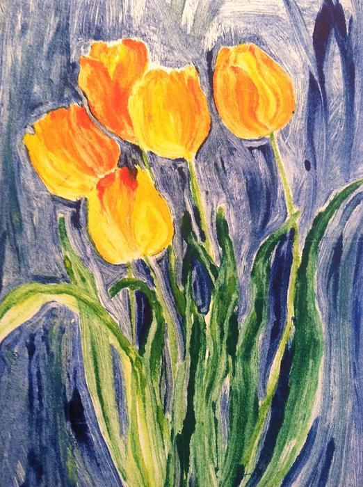Tulips Print by Sherry Harradence