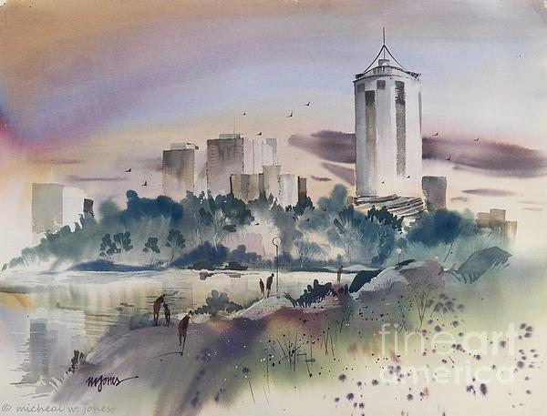 Tulsa Skyline Print by Micheal Jones