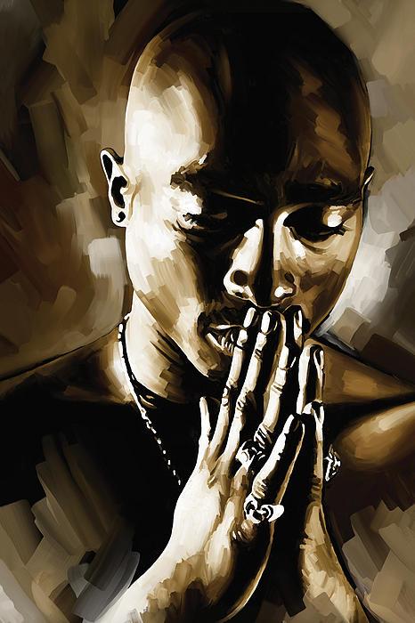 Tupac Shakur Artwork Print by Sheraz A