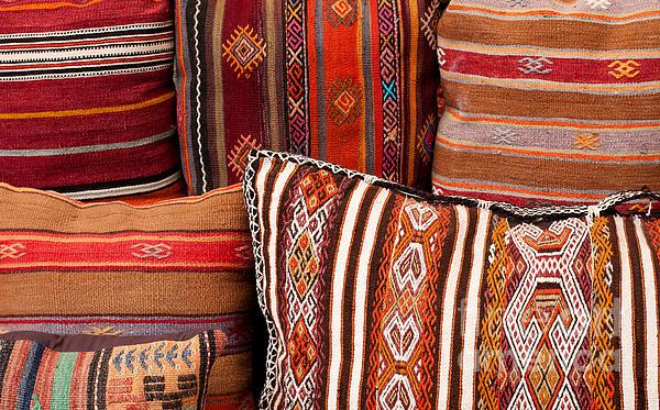 Turkish Cushions 01 Print by Rick Piper Photography