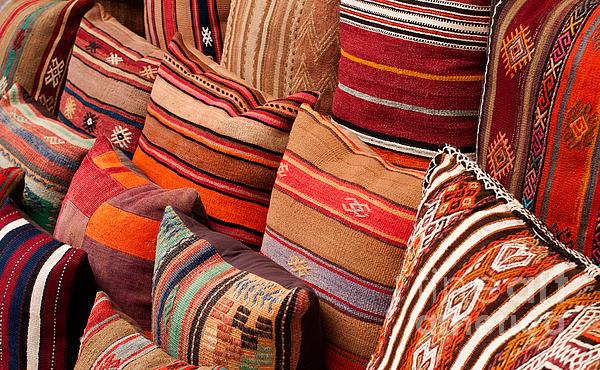 Turkish Cushions 03 Print by Rick Piper Photography
