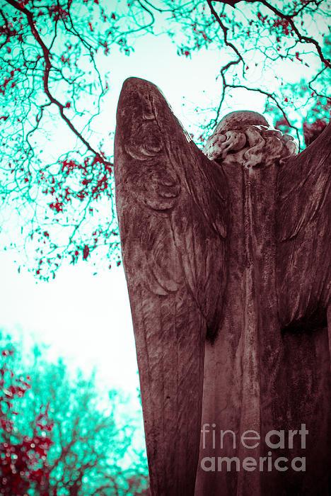 Turquoise Angel Print by Sonja Quintero
