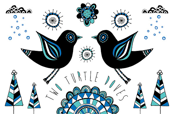 Turtle Dove Print by Susan Claire