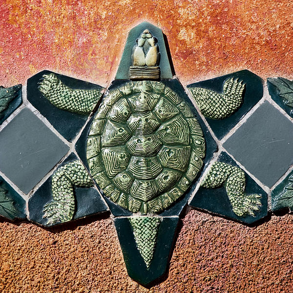 Turtle Mosaic Print by Carol Leigh