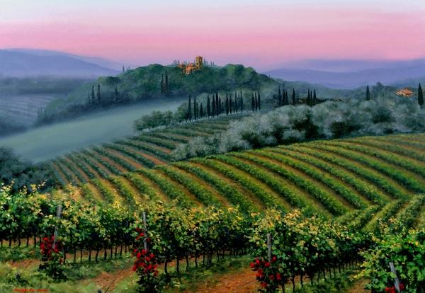 Tuscan Dusk Print by Michael Swanson
