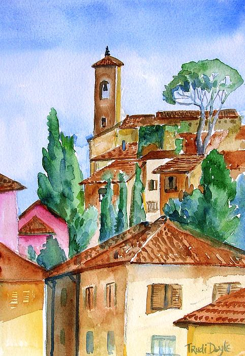 Tuscan Rooftops  -montecatini Alta Print by Trudi Doyle