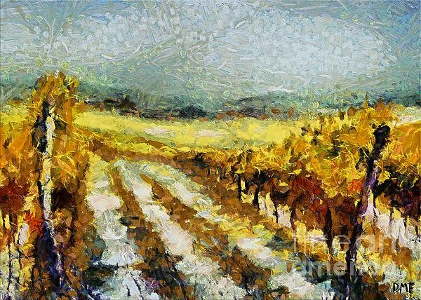 Tuscan Vineyard Print by Dragica  Micki Fortuna