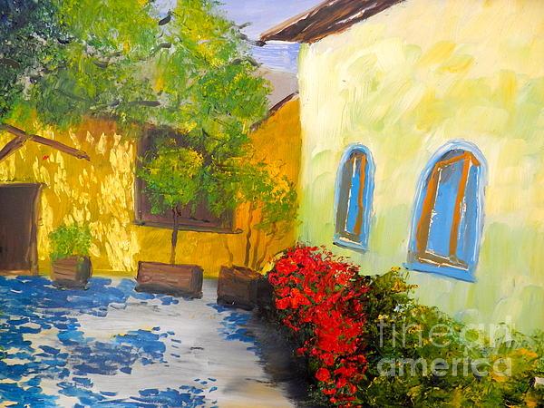 Tuscany Courtyard 2 Print by Pamela  Meredith