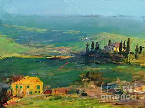 Tuscany II Print by Arne Hansen
