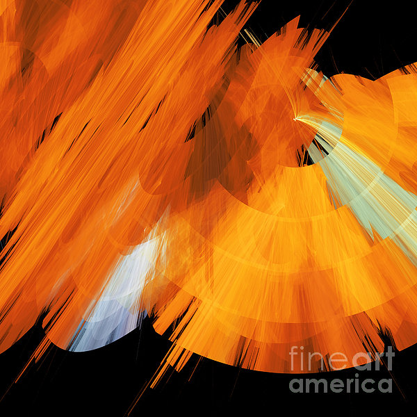 Tutu Stage Left Abstract Orange Print by Andee Design