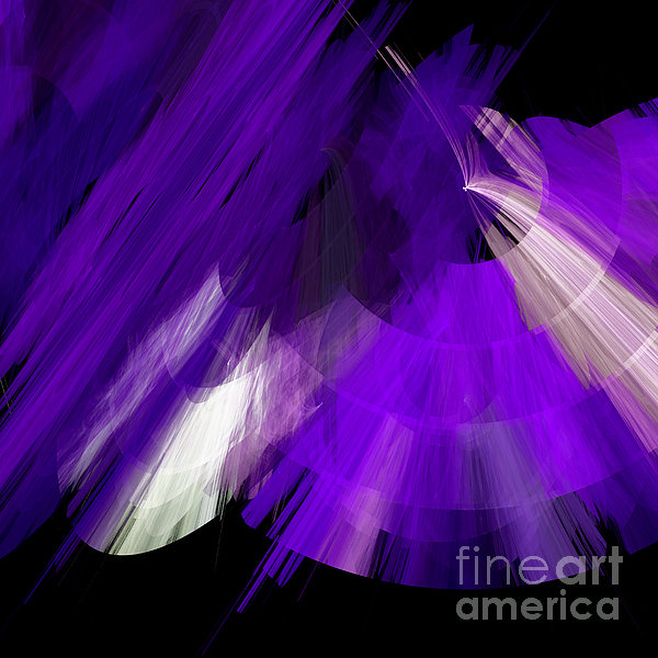 TuTu Stage Left Abstract Purple Digital Art
