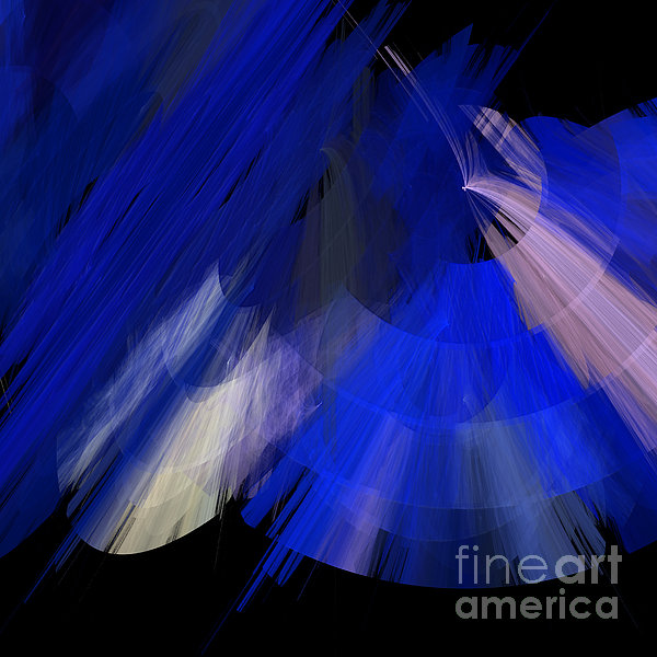 Tutu Stage Left Blue Abstract Print by Andee Design