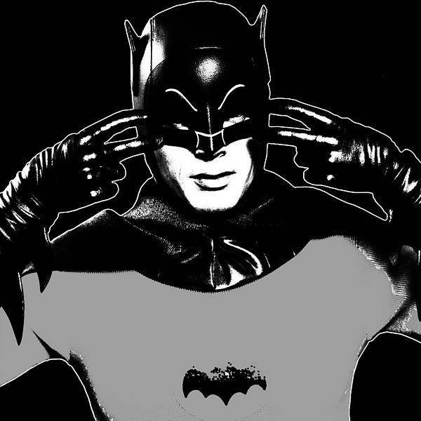 Tv Batman Adam West Print by Tony Rubino