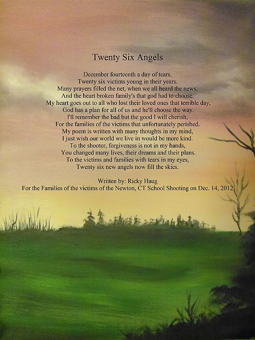 Twenty Six Angels Print by Ricky Haug
