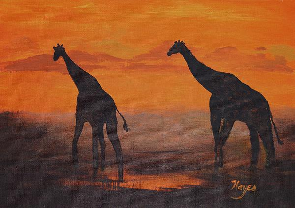 Two By Two Print by Barbara Hayes
