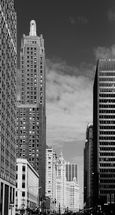 Two Chicago Classics- Carbide And Carbon And Wrigley Building Print by Christine Till