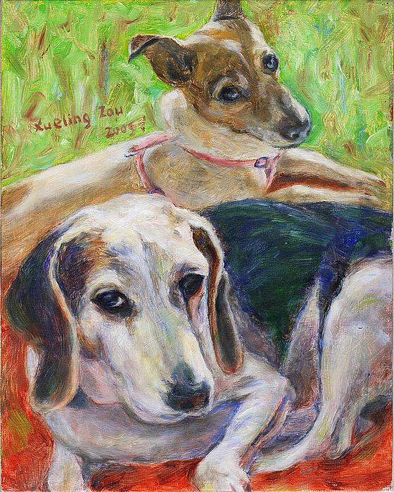Xueling Zou - Two Dogs