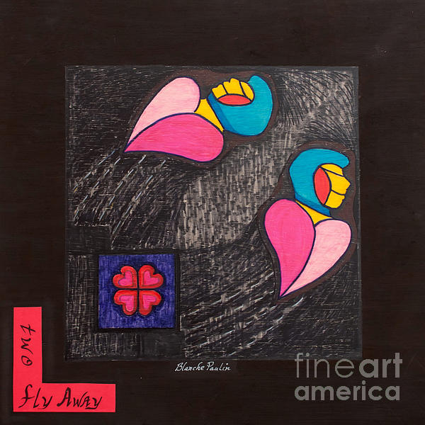 Two Fly Away Print by Blanch Paulin