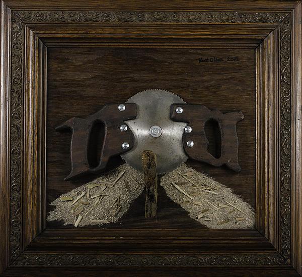 Two Handled Saw Blade Print by Kurt Olson