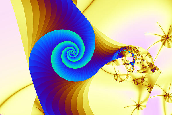 Two Kinds Of Spiral Print by Mark Eggleston