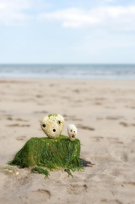 Two On A Beach Print by Svetlana Sewell