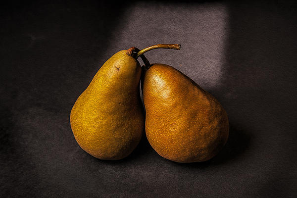 Two Pear Print by Peter Tellone