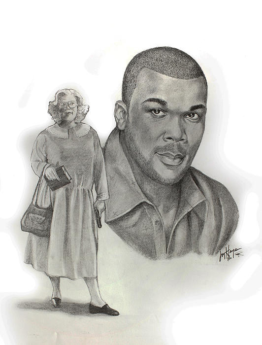 Tyler As Madea Print by Joyce Hayes