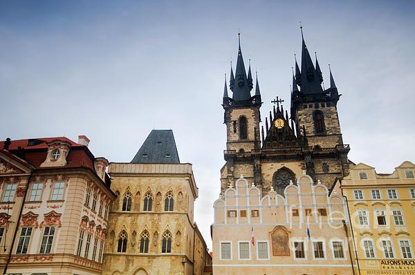Tyn Church In Prague Print by Michal Bednarek