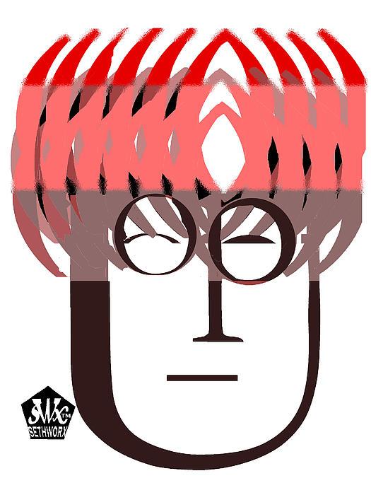 Typortraiture John Lennon Print by Seth Weaver